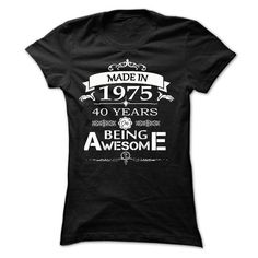 MADE IN 1975 AWESOME - #tshirt illustration #tshirt couple. BUY NOW => https://www.sunfrog.com/LifeStyle/MADE-IN-1975-AWESOME-Ladies.html?68278