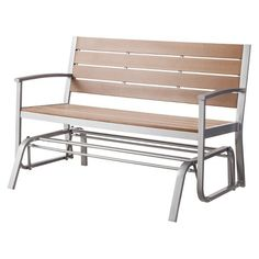 Threshold™ Bryant Faux Wood Patio Front Porch Glider $135