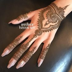 on bridal henna from yesterday ----------------------------------------------- For rates and availability contact us at: Henna Hand Designs, Eid Mehndi Designs, Mehndi Designs Finger, Pretty Henna Designs, Henna Tattoo Designs Simple, Wedding Mehndi Designs, Mehndi Designs For Fingers, Latest Mehndi Designs, Henna Tattoo Hand