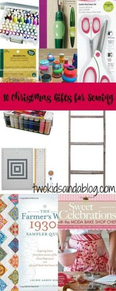 10 Christmas Gifts for Sewing - www.twokidsandablog.com