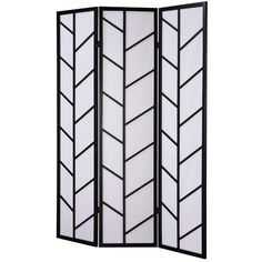 "Roundhill Furniture 71"" x 51"" Climbing Screen 3 Panel Room Divider"