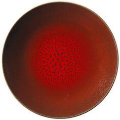 Jars Tourron Dinner Plate - Cherry (44 AUD) ❤ liked on Polyvore featuring home, kitchen & dining, dinnerware, red, stoneware plates, red dinnerware, colored jars, handmade stoneware plates and red dinner plates