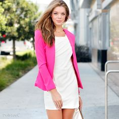 Oh, how I love pink blazers.
