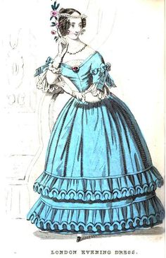 Ladies Pocket Magazine, London Evening Dress, 1838