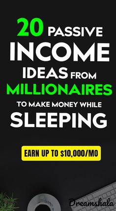 20 passive income ideas from millionaires to make money while sleeping. - Earn Money at home Earn Money From Home, Earn Money Online, Online Jobs, Way To Make Money, How To Make, Gta Online, Online Income, Money Fast, Creating Passive Income