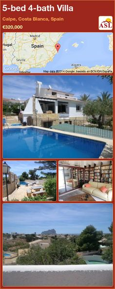 5-bed 4-bath Villa in Calpe, Costa Blanca, Spain ►€320,000 #PropertyForSaleInSpain
