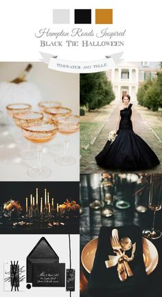 Black Tie Halloween Wedding Inspiration
