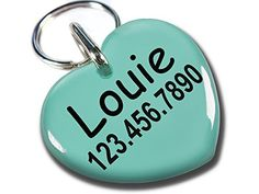 Pet tags Dog Tags Cats tags Sweet Heart Shape by ID4Pet Large 150 >>> Continue to the product at the image link.