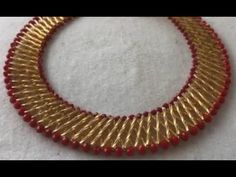Hello friends welcome to this wonderful channel, this DIY tutorial will make you understand the steps of making this straw beaded necklace. Bead Jewellery, Seed Bead Jewelry, Hair Jewelry, Beaded Necklace Patterns, Bracelet Patterns, Beading Patterns Free, Beading Tutorials, Beaded Braclets, Bead Embroidery Jewelry