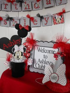 Minnie Mouse Red Polka Dot Ultimate Birthday by ASweetCelebration, $279.00