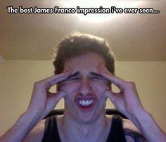 Probably the best James Franco impression ever…