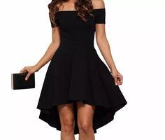 vestido rodado preto  lançamento