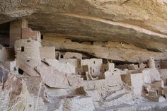 Cliff dwellings at Mesa Verde, CO
