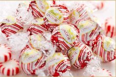 New from Lindt Chocolate:  LINDOR Peppermint White Chocolate truffles!