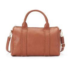 Yoki Pebbled Crossbody Mini Duffel Bag, Women's, Brown