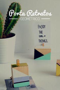 Faça Você Mesmo Porta Retratos Geométrico DIY #decoracao #blog #decor #homedecor #arquitetura #interiores #diy #facavocemesmo #projeto