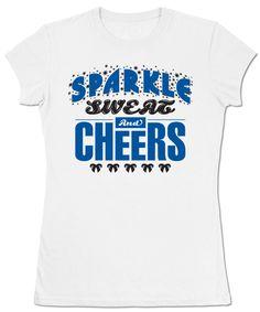 Sparkle Sweat and Cheers Tee - Omni Cheer