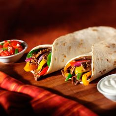 Keep flour tortillas on hand in your refrigerator so you can make quesadillas, burritos and fajitas anytime. For Steak Fajitas, sauté strips of steak, onion and bell peppers; then season with Lawry's® Fajitas Seasoning Mix for a restaurant-style meal.