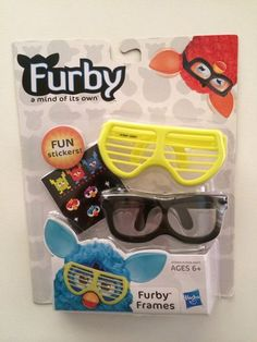 NEW - 2012 FURBY FRAMES - Two Pair of Eye Glasses Yellow  Black - Ages 6  Up