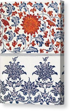 1867 - Examples of Chinese ornament selected from objects in the South Kensington museum and other collections - BY Owen Jones Chinese Design, Chinese Art, Textile Patterns, Print Patterns, Textiles, Chinese Ornament, Decoupage, Scrapbook Blog, Chinese Patterns