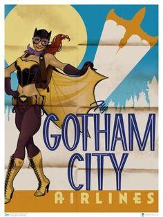 Todas as personagens ganharam ares de anos 50 e 60 mas continuaram com seus super poderes