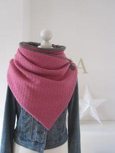 Schals - Wickelschal Steppsweat rosa/pink - ein Designerstück von petramaria-Petra bei DaWanda