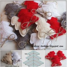 FabartDIY shares a free pattern for making these little crocheted Christmas Tree Ornaments via the link.