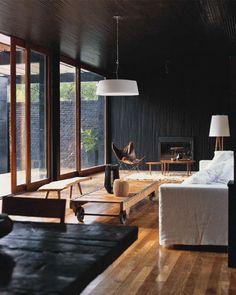Black, brown and white decor