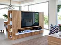 Living Room Partition Design, Living Room Divider, Table Decor Living Room, Room Partition Designs, Living Room Tv Unit Designs, Home Design Living Room, Tv Stand Room Divider, House Cladding, Apartment Living
