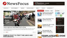 Free Blogger Templates - News Magazine Template Design #blogger #magazine #design