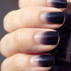 black ombre nail polish