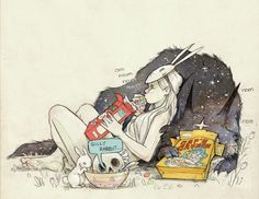 This has three of my favorite things! Bunnies, a wolf, and cereal!!!