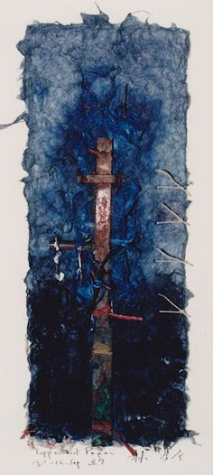 D-12.Sep.1989 painting, collage  林孝彦 HAYASHI Takahiko 1989