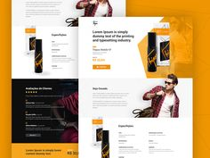 Working on a nice product landing page for Agência Doting, really liking the yellow!  -  Trabalhando em um conceito de landing page para a Agência Doting, testando combinações de amarelo!