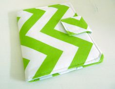 Nook Simple Touch Cover  Lime Green and White by gothicreations, $24.00