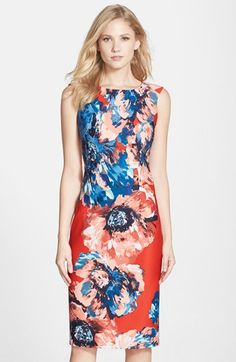 Gabby+Skye+Floral+Print+Scuba+Body-Con+Dress+available+at+#Nordstrom