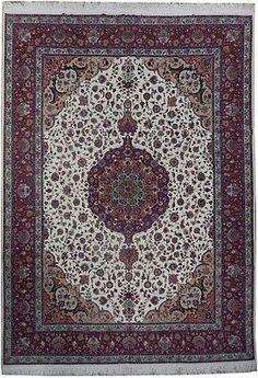 9x13 Top Quality Wool Silk Persian Tabriz Iran 500 KPSI