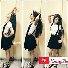 Best outfit  @shivangijoshi18 Unique Outfits, Cool Outfits, Shivangi Joshi Instagram, Profile Picture For Girls, Teenage Girl Photography, Stylish Girl Images, Swing Skirt, Short Prom, Muslim Women