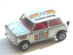 Vintage Corgi No: 201  Mini 1000 Team Corgi -Silver Metallic 1979 - RARE