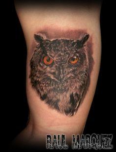 owl tattoo #owltattoo #buho tattoo #realistictattoos #damageink #damageinkorporated #raultat2s