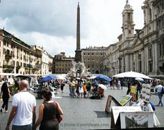 Piazza Navone in Rome Italy