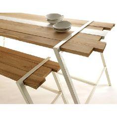 Blue nature kitchen table