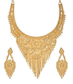Gold Plated necklace set from Goldencollections, trendy and traditional look