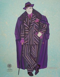"""Costume design for The Drowsy Chaperone, 2006 • Marquis Theatre, Broadway, Gouache on paper, Union stamp and signed bottom left  21"""" x 16½"""" • GB1D11"""