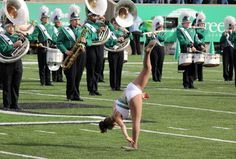 Kylie Marshall University Feature Twirler, toss double illusion.