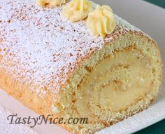 Бисквитный рулет #Бисквитный_Рулет #Рулет_с_лимонной_ начинкой #Roulade_Recipe Russian Desserts, Russian Recipes, Tasty Bakery, Summer Desserts, Desert Recipes, Delicious Desserts, Food To Make, Food And Drink, Cooking Recipes