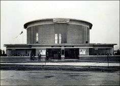 Arnos Grove Underground station in 1932, designed by Charles Holden.
