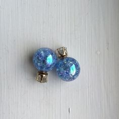 Candy Color Blue Double Side Ball Stud Earring New Candy Color Blue Double Side Ball Stud Earring New Jewelry Earrings