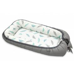 Pamut waffel babafészek - Pasztell tollak, szürke Siding Materials, Green And Grey, Comforters, Gym Bag, Pattern, Cotton, Bee, Strong, Child