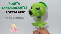 Planta v/s zombie Plantas Versus Zombies, Tutorial Amigurumi, Amor Youtube, Patron Crochet, Crochet Hats, Videos, Crochet Dolls, Dress, Plants Vs Zombies